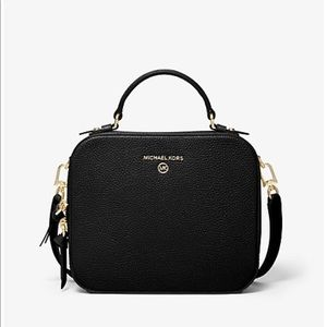 Micheal Kors Jet Set Pebbled Leather Crossbody Bag